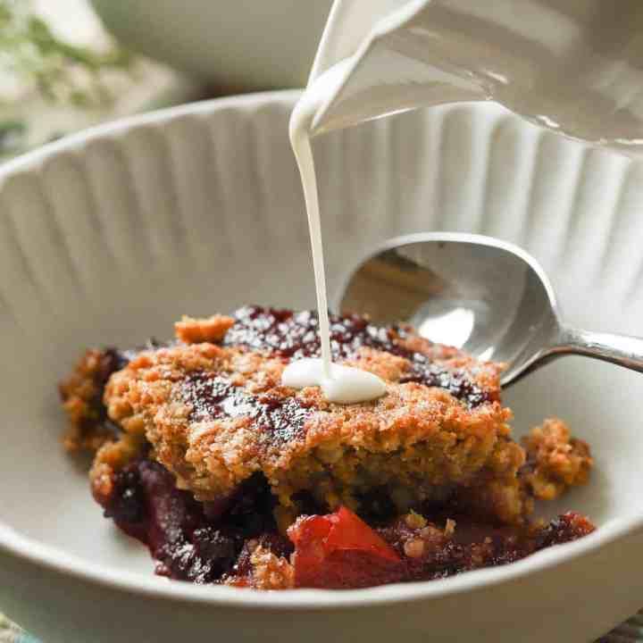 Gluten-Free Blackberry & Apple Crumble (Vegan)