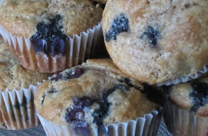 Saskatoon Blueberry Muffins