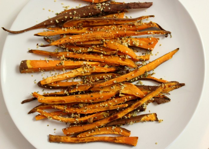 how to make baked sweet potato fries coconut oil