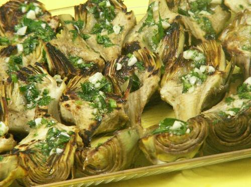 Pan Roasted Artichokes