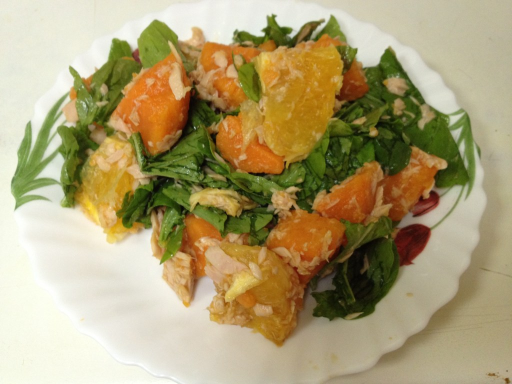 Tuna Salad with Sweet Potato and Orange
