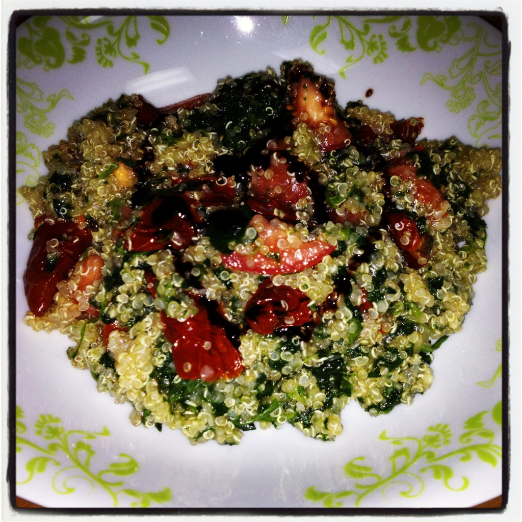 Quinoa Salad with Sun-Dried Tomatoes in Oil