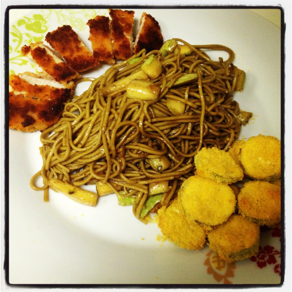 Japanese Noodles with Zucchini