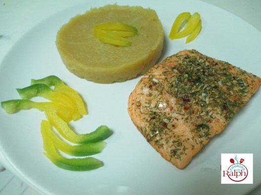 Salmon truffle oil