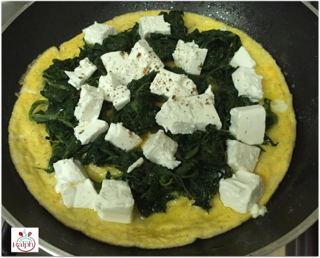 Omelette spinach cheese