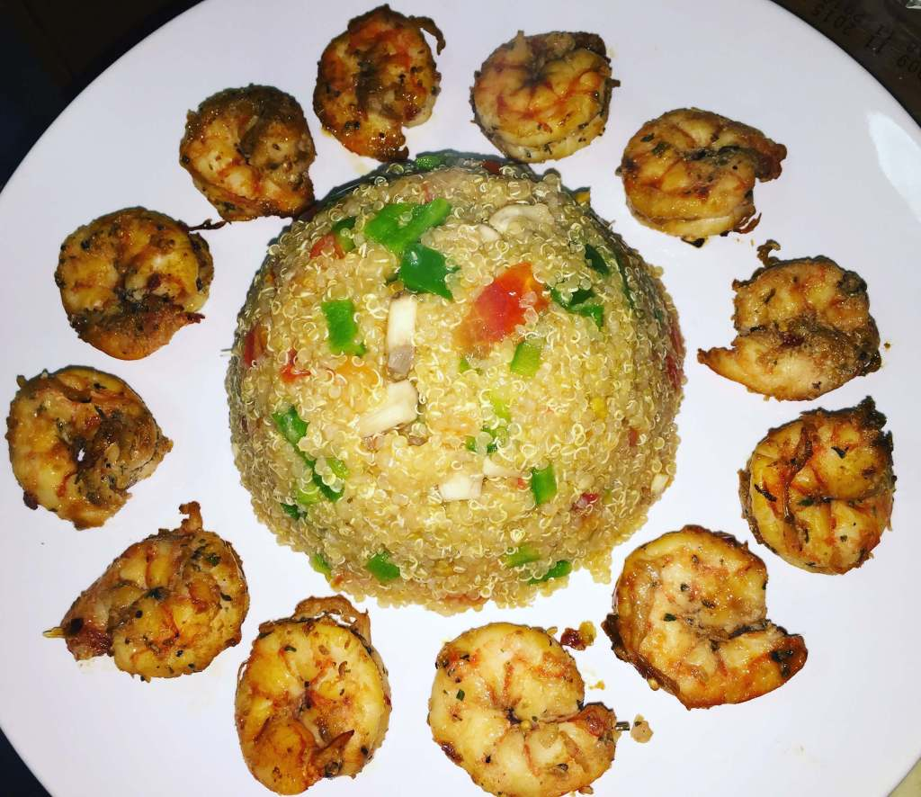 Shrimps and Vegetable Quinoa