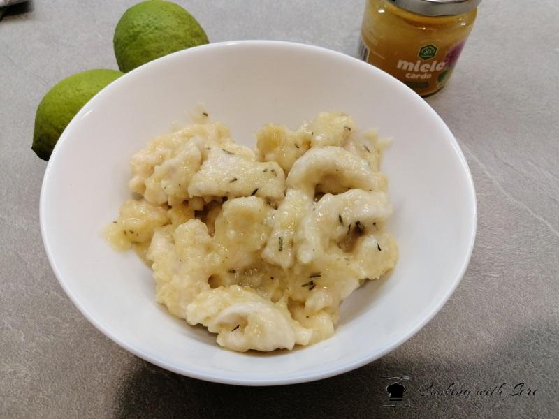 bocconcini di pollo al miele e limone