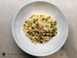risotto con piselli e philadelphia e carote