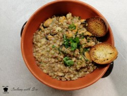 zuppa di legumi e cozze