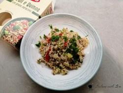 cereali e quinoa con tonno e zucchi