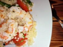 insalata di cous cous con gamberi
