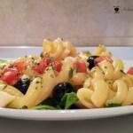 Insalata di Quinoa con zucchine gamberi e piselli