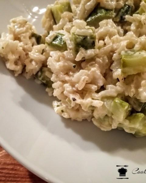 risotto integrale con zucchine e philadelphia
