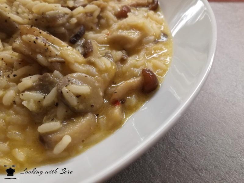 risotto con zucca e funghi