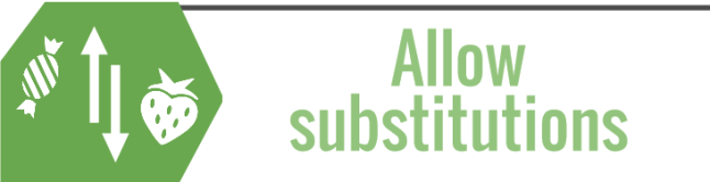 Allow substitutions