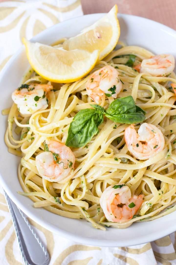 Pesto Shrimp Scampi