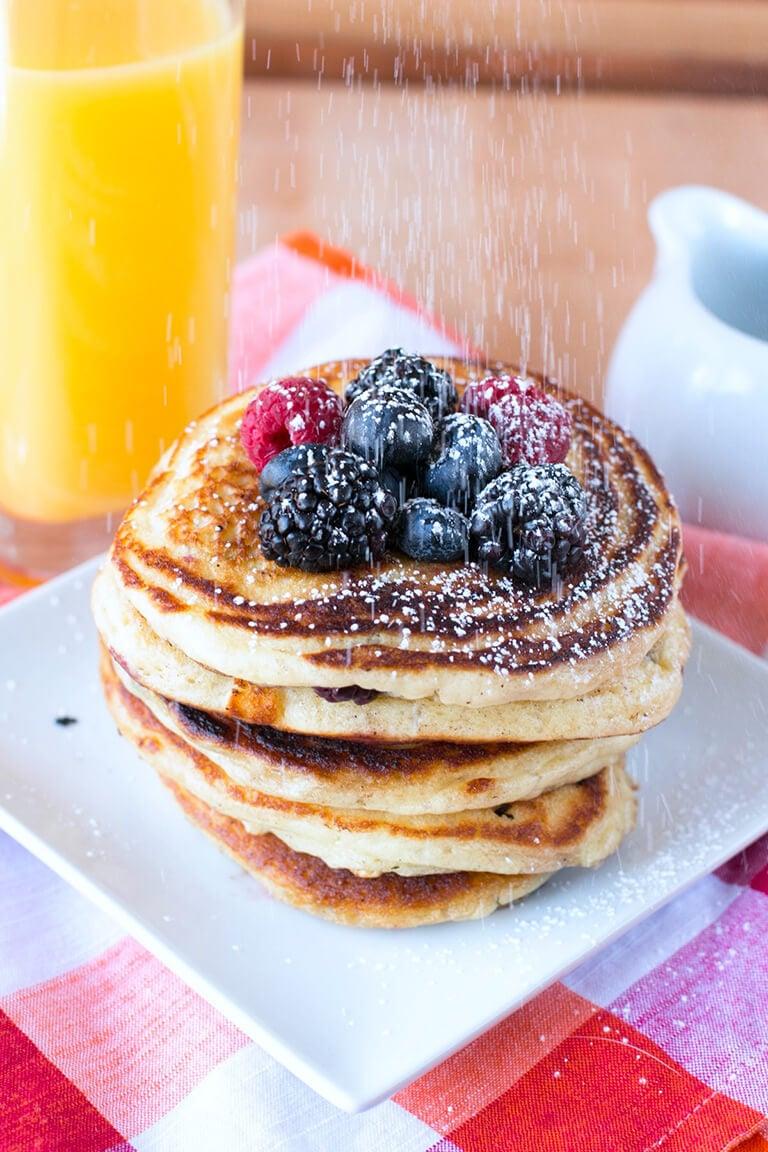 Mixed Berry Pancakes