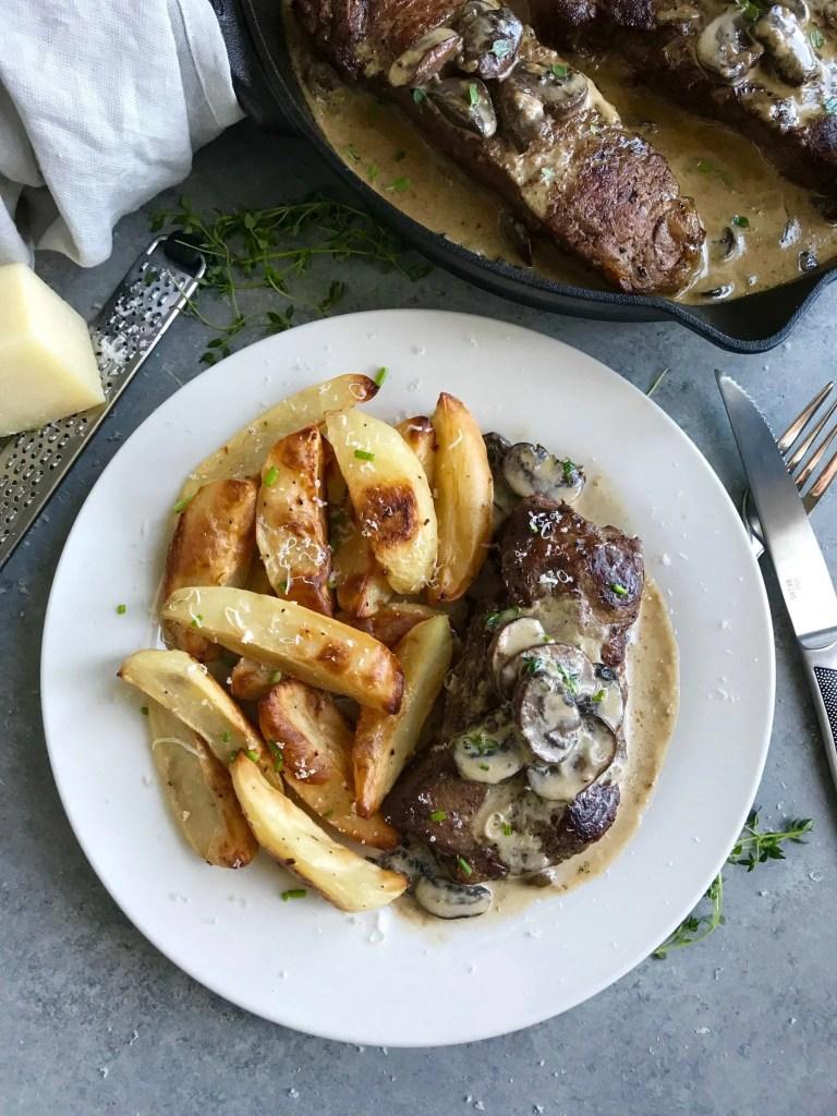 Creamy Mushroom Steak