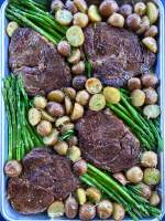 Steak and Potato with Asparagus