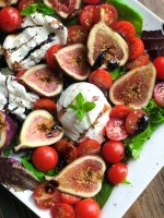 Burrata Fig Salad Keto friendly