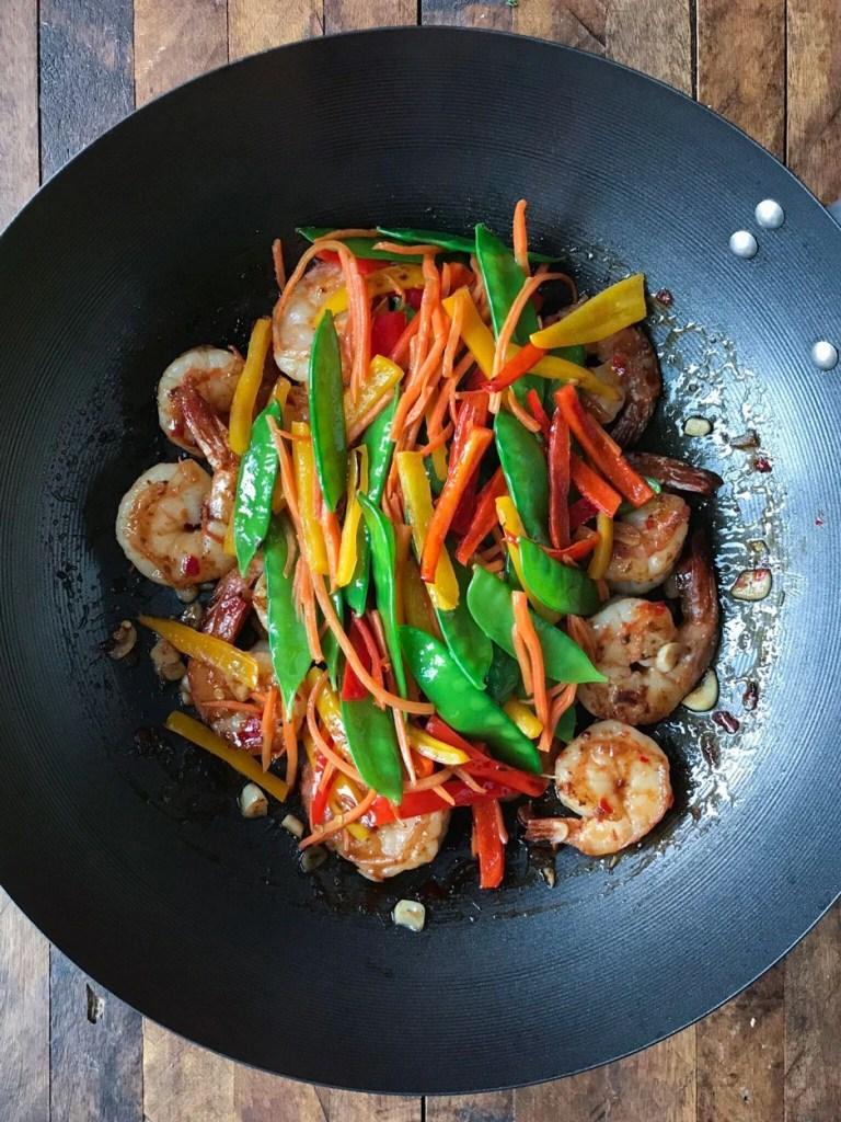Sweet and Chili Shrimp Stir fry