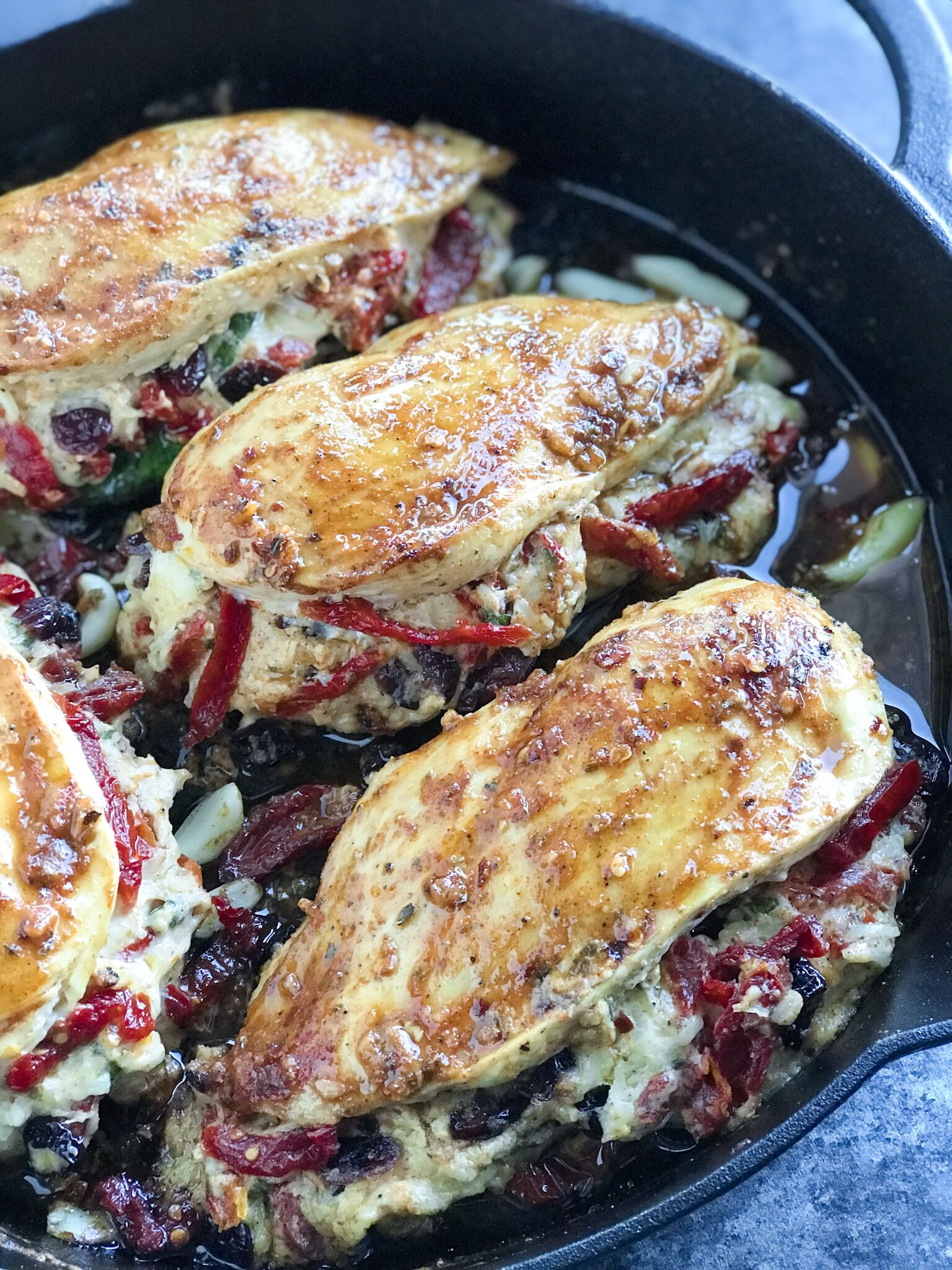 Cheesy Sundried Tomato Stuffed Chicken - Cookin' with Mima