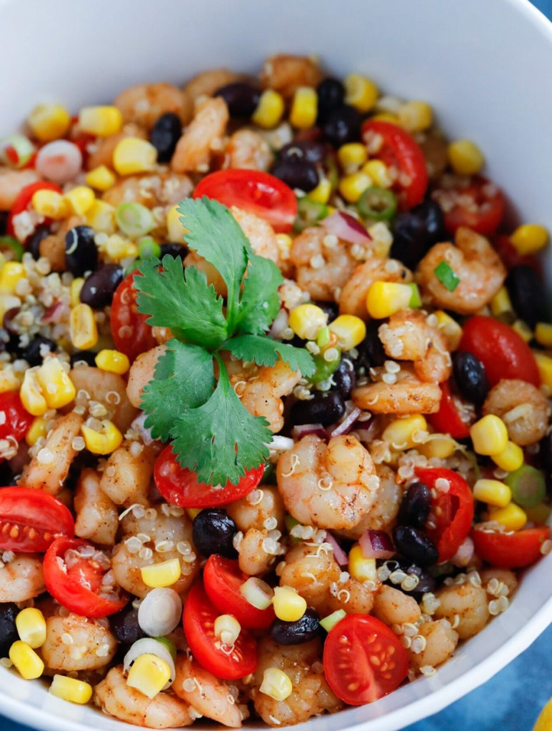 Southwest Shrimp Quinoa Salad