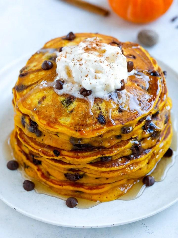 Pumpkin Chocolate Chip Pancakes Recipe