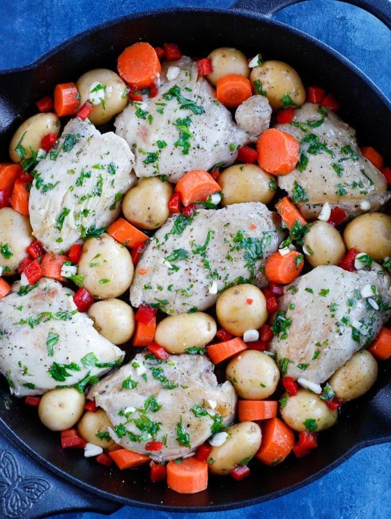 chicken and potatoes