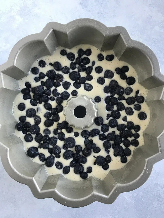 blueberry cake mixture
