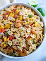 Shrimp Fajita Pasta Salad