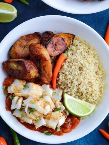 Caribbean Jerk Fish Bowls