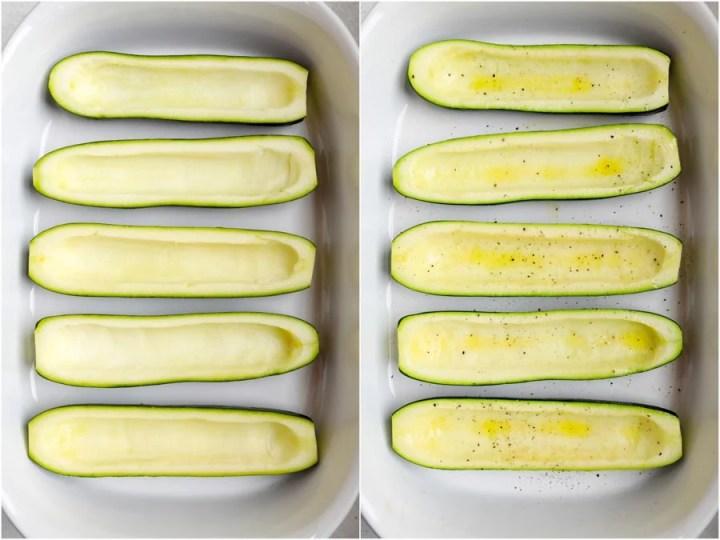 cored zucchini