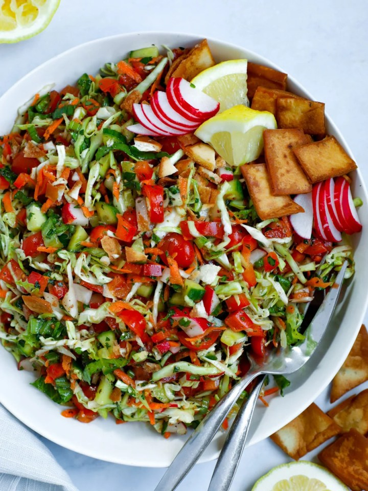 Cabbage Fattoush Salad