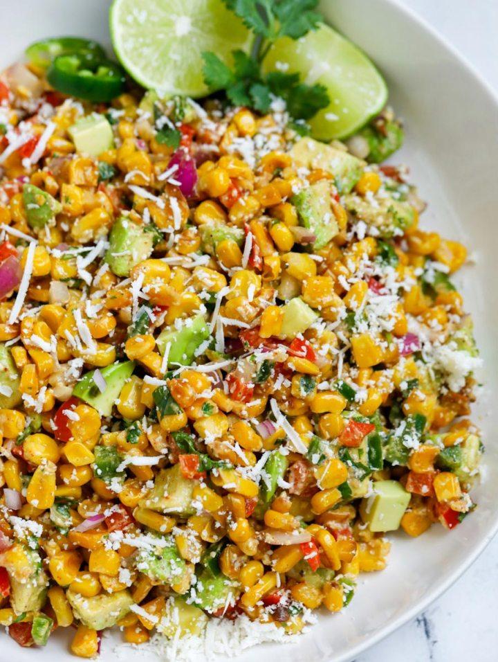 Street Corn Salad in a bowl