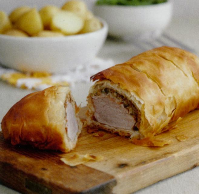 Roast Pork Fillet With Mushrooms In Filo Pastry Recipe