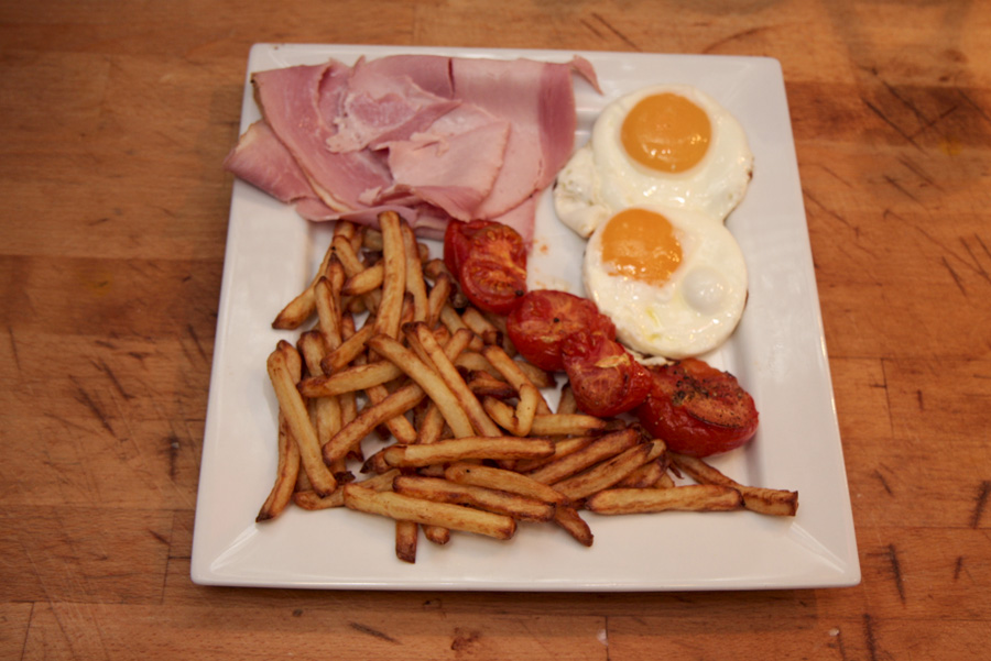 Ham Egg And Airfryed Chips Recipe