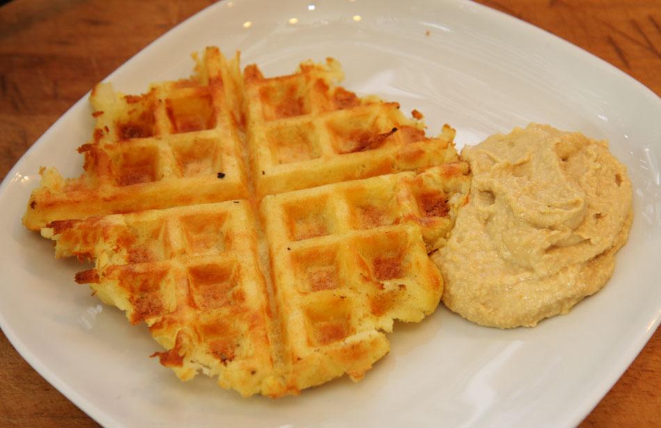 Easy Potato Waffles Using A Waffle Iron Vegetarian Recipe