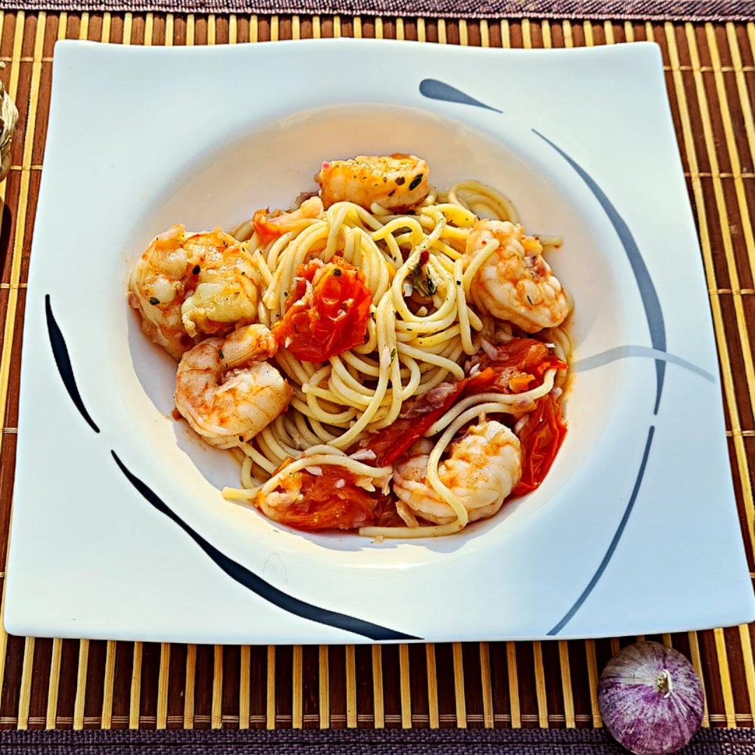 Spaghetti in Knoblauchsauce