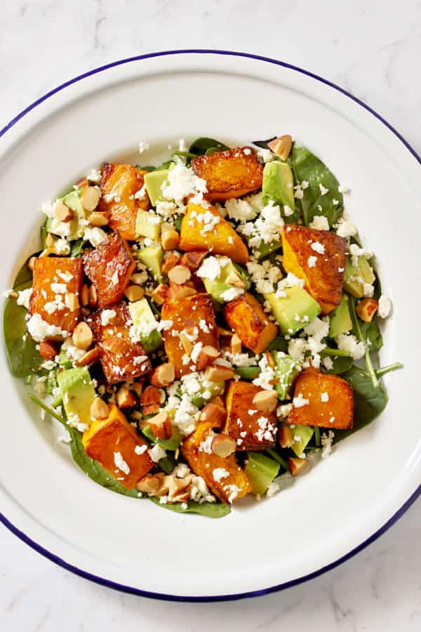 Roast Pumpkin and Feta Salad