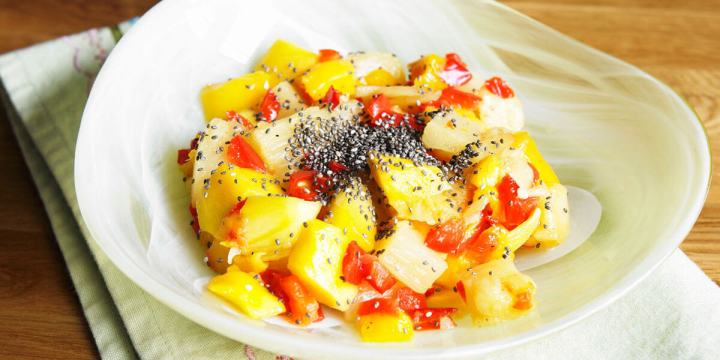 salade et graines de chia