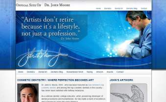 Personal Website for John Moore DDS