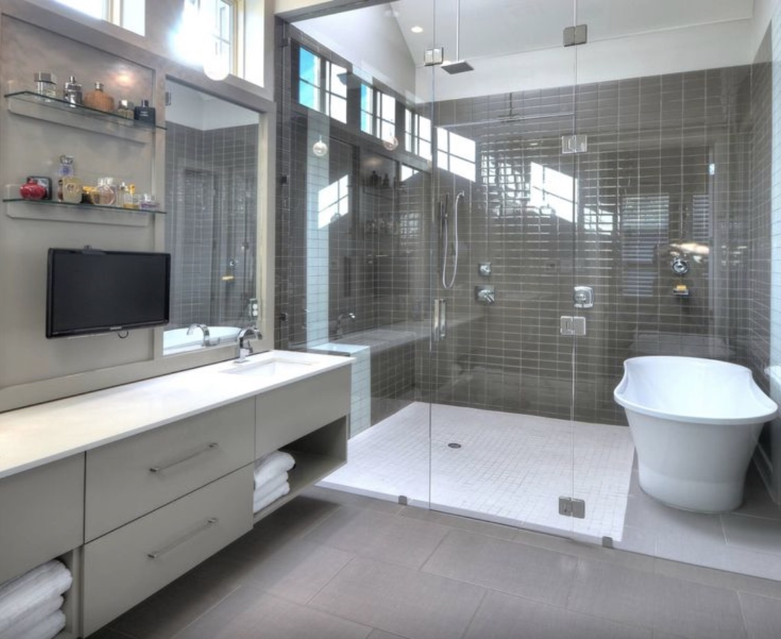 Bathroom Remodeling Trends for 2017 - Cook Remodeling on Wet Room With Freestanding Tub  id=46187