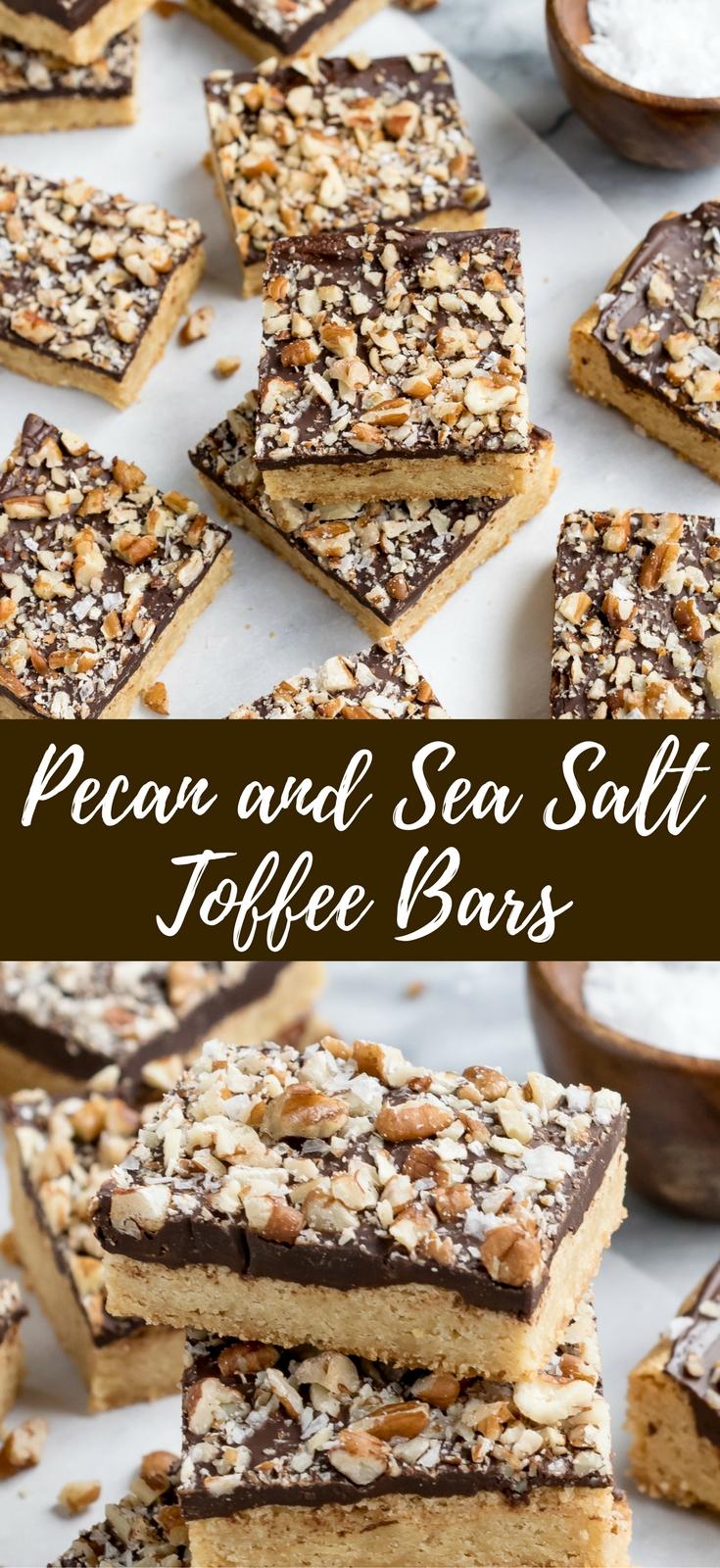 Sea Salt Toffee Bars