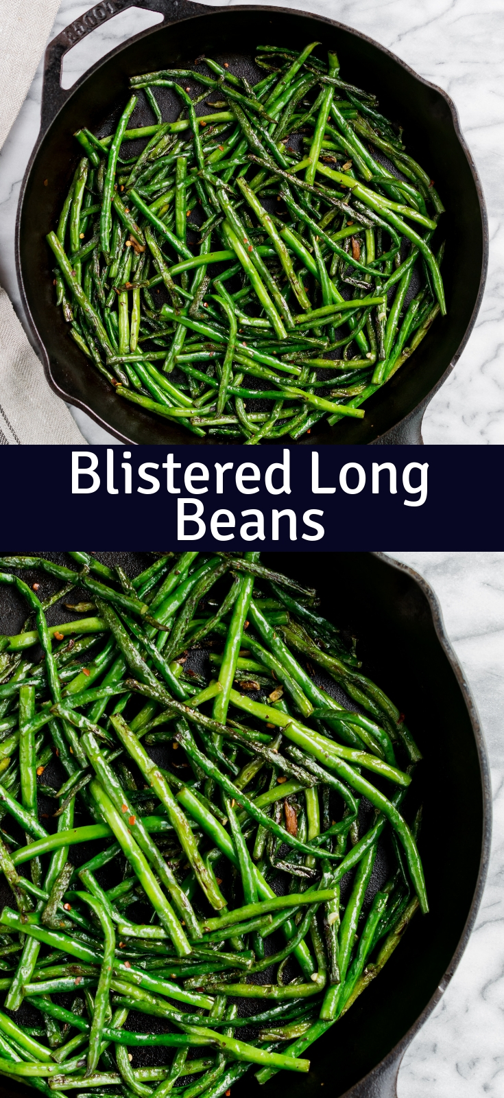 blistered Long beans