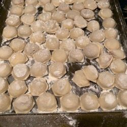 Finished dumplings
