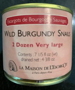 Canned escargot