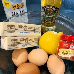 Hollandaise ingredients