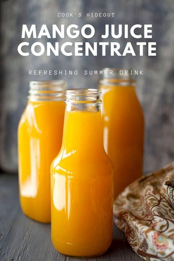 Mango juice concentrate