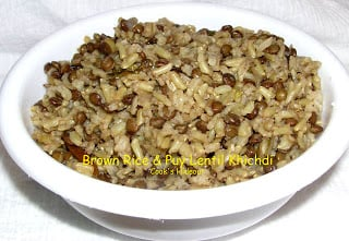 Brown Rice – Puy Lentil Khichdi